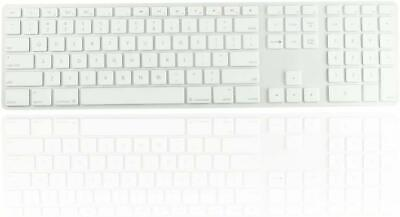Clear Ultra Thin silicone keyboard cover with numeric keypad for Apple iMac