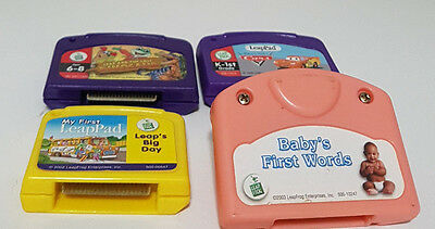 4 LEAPFROG CARTRIDGES DIFFERENT SYSTEMS! LEARNING TOY LEAP PAD LITTLE TOUCH!