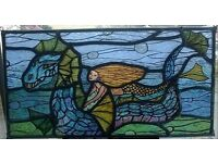 modern coloured glass fantasy window picture/panel