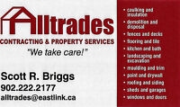 ALLTRADES CONTRACTING and Property Services. For all your needs!