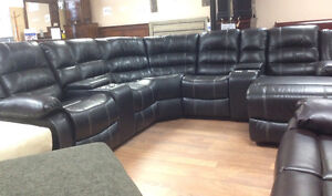 Brand new 7 pieces leather air recliner sectional $1998+FREE DEL