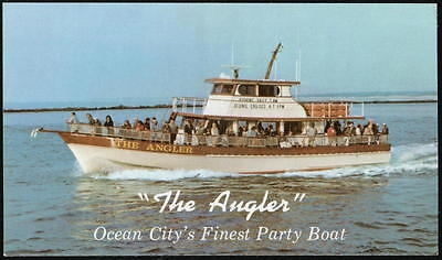 OCEAN CITY MD The Angler Restaurant Party Boat Vintage Postcard Old Maryland PC (Party City Maryland)