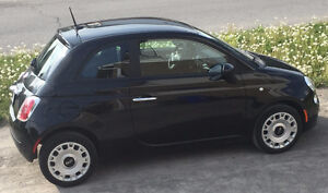 2012 Fiat 500 Black Hatchback