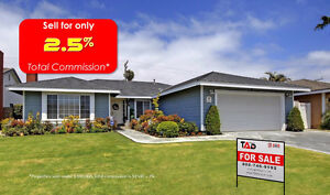 Sell your home for only 2.5% total commission*