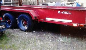 15' double axle trailer