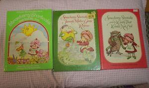 3 vintage strawberry shortcake books