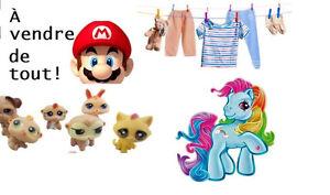 J'ai bcp de jouets, vêtements enfants adultes, nintendo