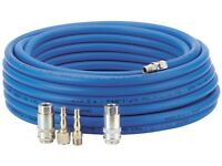 "Draper 15.2m Air Line Hose Connection Kit 1/4"" Standard Tools Connector Adaptor"