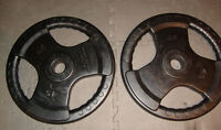 Olympic Rubber Coated two 45 lb plates $75.00 new