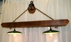 Handcrafted Barn Beam Light Fixture