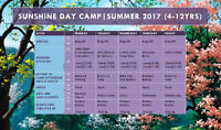 SUNSHINE DAY CAMP|SUMMER 2017 (4-12YRS)