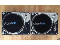 Dj mixing decks 2x Stanton T.80