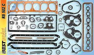 Chevy-216-235-Full-Engine-Gasket-Set-BEST-1937-53-COPPER-Head-Manifold-Oil-Pan