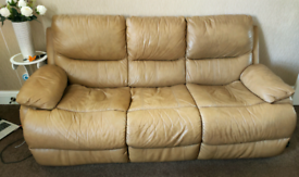 Leather Sofa Suite, Fire Rated