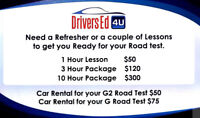 Drivers Education course and private lessons