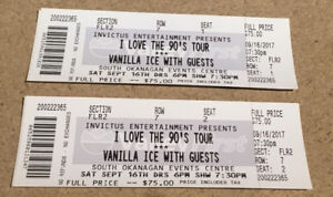 2 Tickets for the 90's tour Concert TONIGHT!!!