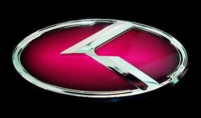 Front(Grille) & Rear(Trunk) 3D Red Emblem Badge for Kia 11 12 13 2014 Rio 5door