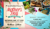 Mother's Day Market- flowers, baked goods, & jewelry for sale