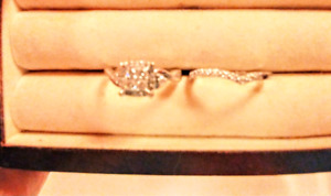 Engagement ring and band