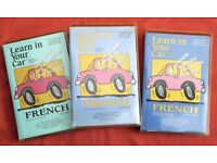 Learn French in the car - three levels, six cassette tapes