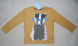 "NEW F&F Long-Sleeved ""Badger"" Toddler Shirt 2-3yrs (from U.K.)"