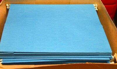 Smead 3 Capacity - Box Bottom - Hanging File Folders Letter Size Blue 25 Pcs