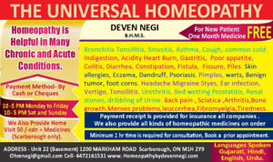 HOMEOPATH IN SCARBOROUGH
