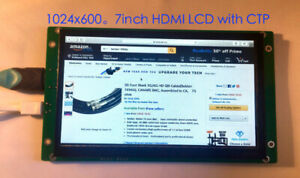 lcd:Raspberry Pi 7inch HDMI LCD for 1024×600 Capacitive touch
