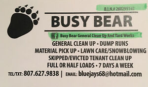 Cleaning / skipped , evicted tenant clear outs / dump runs
