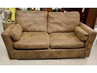 Faux Suede 2 Seater Sofa Bed -Can Deliver For FREE Locally On Orders Over £100