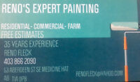 Experienced Painter 35 years! Free estimates large jobs or small