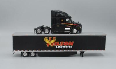 DCP WILSON LOGISTICS FREIGHTLINER CASCADIA 53 FT SKIRTED TRAILER1/64 60-0579