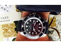 New double black rolex watch with rubber straps