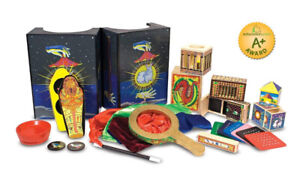 Melissa & Doug Deluxe Solid-Wood Magic Set With 10 Classic Trick