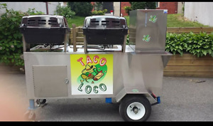 Two BBQ's, Two big Coolers,Steamer with Kitchen Zink, storage