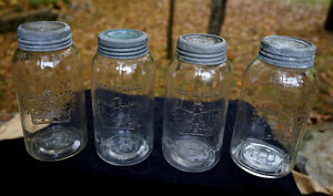 Vintage Glass Crown Mason Jars Made In Canada, lids Excellent Peterborough Peterborough Area image 1