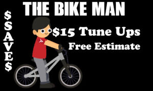Bicycle Repairs . Been tuning up bikes for 30 years . $15 tune u