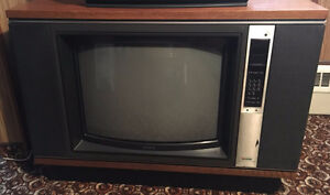 Old Sony TV Antique Furniture Box