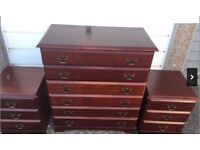 EXCELLENT CONDITION Chest of Drawers and 2 x Bedside Cabinets £60 FREE DELIVERY IN EDINBURGH