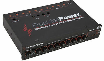 PRECISION POWER PPI E.7 1/2-DIN 7-BAND PARAMETRIC EQUALIZER EQ w/ LED DISPLAY E7