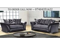DFS Chenille Fabric 3+2 Seater Sofa Settee in Black Grey Brown Mink, Shannon Dual Arm Corner Suite