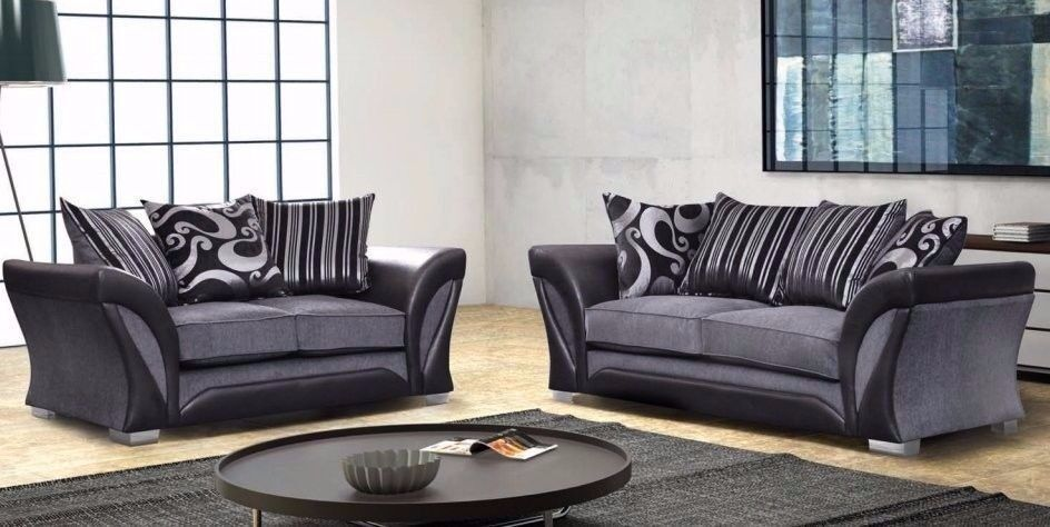 AMAZING LOOK --BRAND NEW-- CORNER SOFA --SPECIAL OFFER-- CALL US in grey and black colour