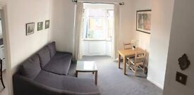 A central one double bedroom flat with off street PARKING PLACE on a quiet road