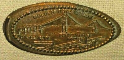 SAN FRANCISCO Fisherman's Wharf Golden Gate Bridge & Cable Cars 1994 PENNY COIN for sale  North Bergen