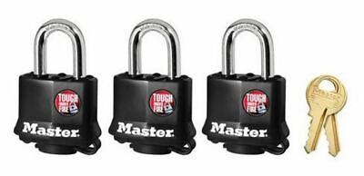 Master Lock 311TRI Laminated Steel Weatherproof Padlock, 1-1/2
