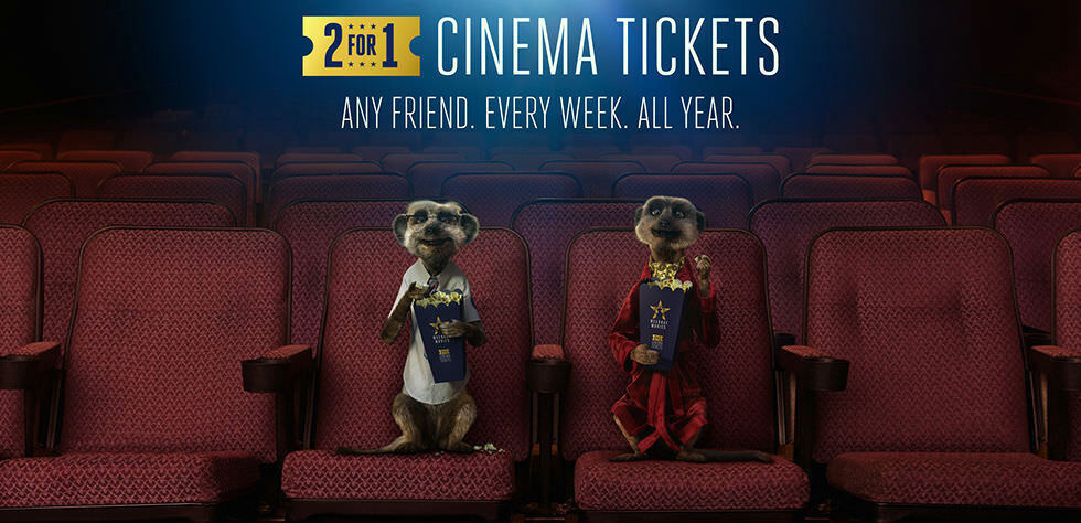 2-for-1 Cinema Ticket Codes: Odeon Vue Cineworld - Tuesday/Wednesday 2/3 October