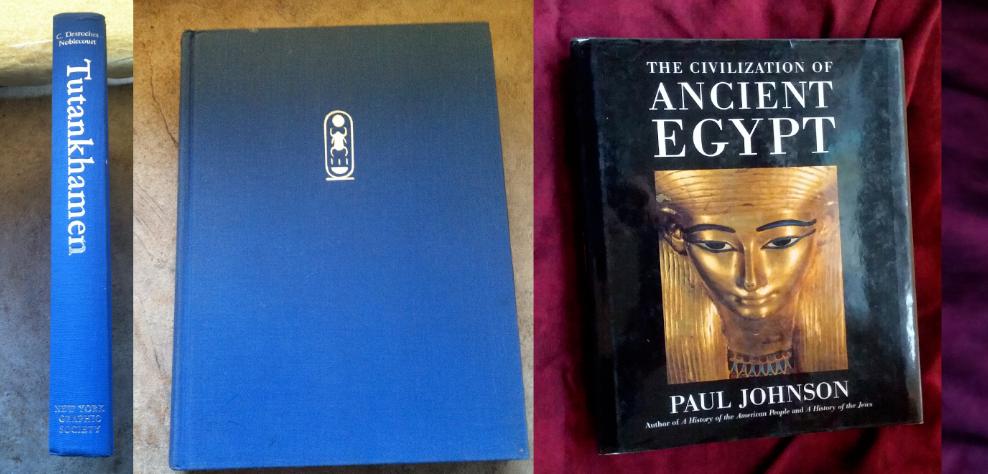 Lot of 3 Ancient Egypt Books Tutankhamen Civilization History Ramses pharoah