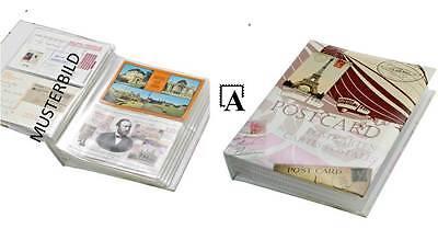 Sammelalbum retro für 200 Ansichtskarten Postkarten Album f. postcards SAFE 6007