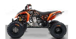 KTM 450 / 505 / 525 XC/SX Grunge  ATV Graphics Kit Orange/Black