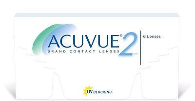 Acuvue 2, 1 x 6 Kontaktlinsen,  2-Wochenlinsen BC 8.7 - NEU!